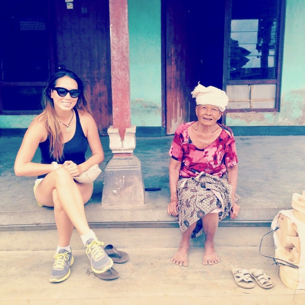 25 Km Bike Ride Through Ubud Bohemian Vagabond Jacki Ueng Kopi Jahe By Bintan Pal Our Tour Guide Friend Took Us To A Large Home Of Loving Bubbly Great Grandmother She Welcomes With Smile On Face Although There Was