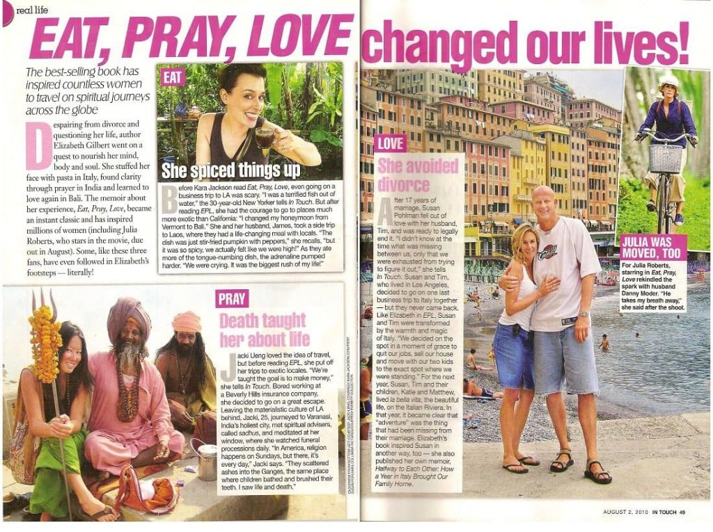 Eat Pray Love Travel