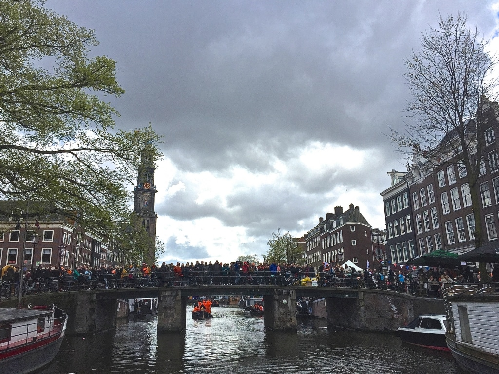 celebrating koningsdag in amsterdam