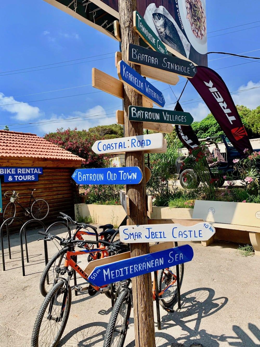 best bike tours in lebanon