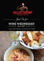 Killer Shrimp Wine Wednesdays