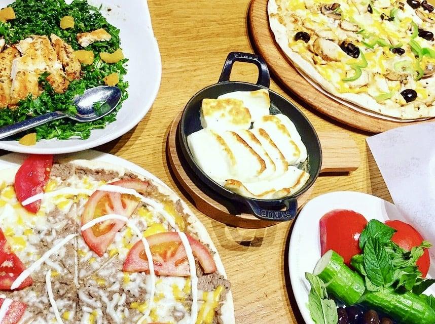 Manakeesh Pizza at Zaatar W Zeit