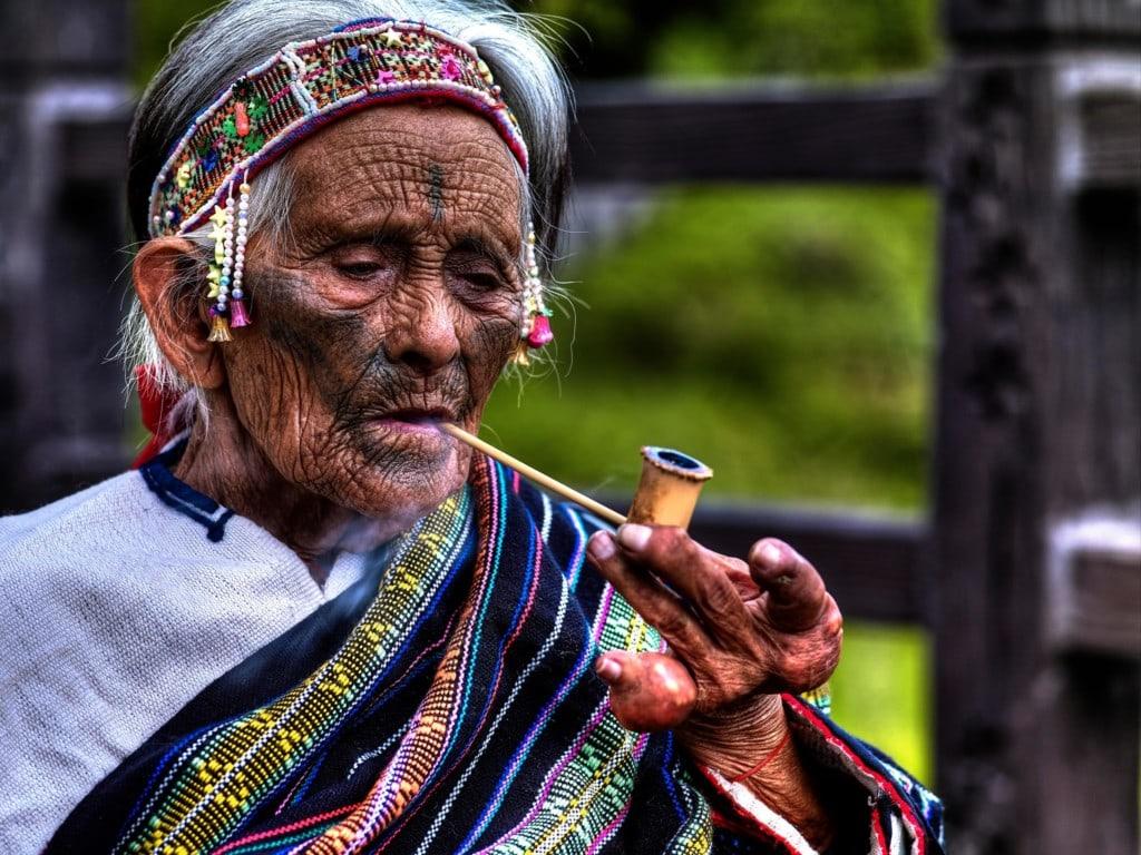 Atayal Woman Facial Tattoo