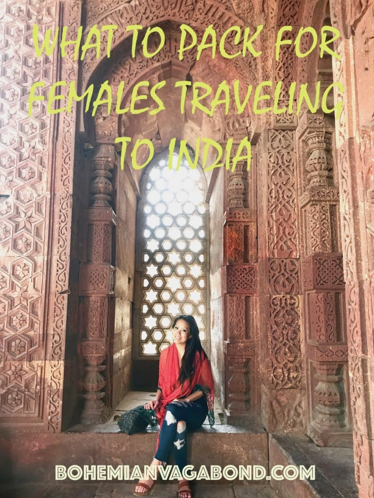What to pack for females traveling to India