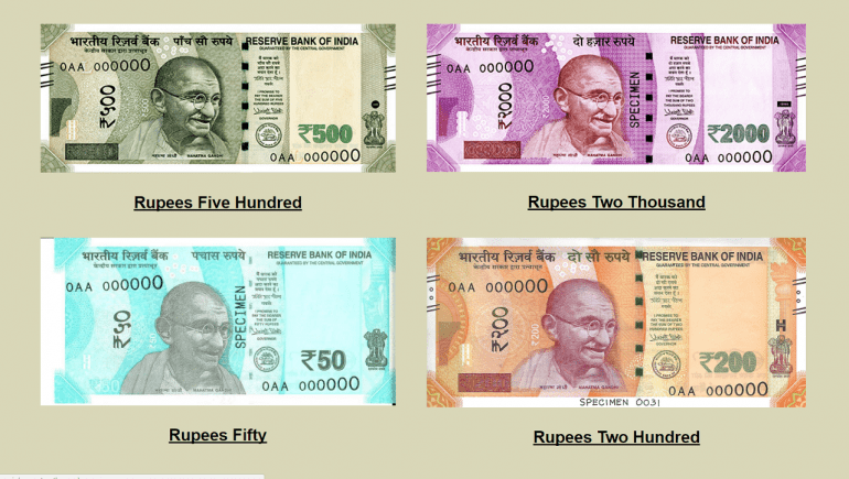 Indian new rupees