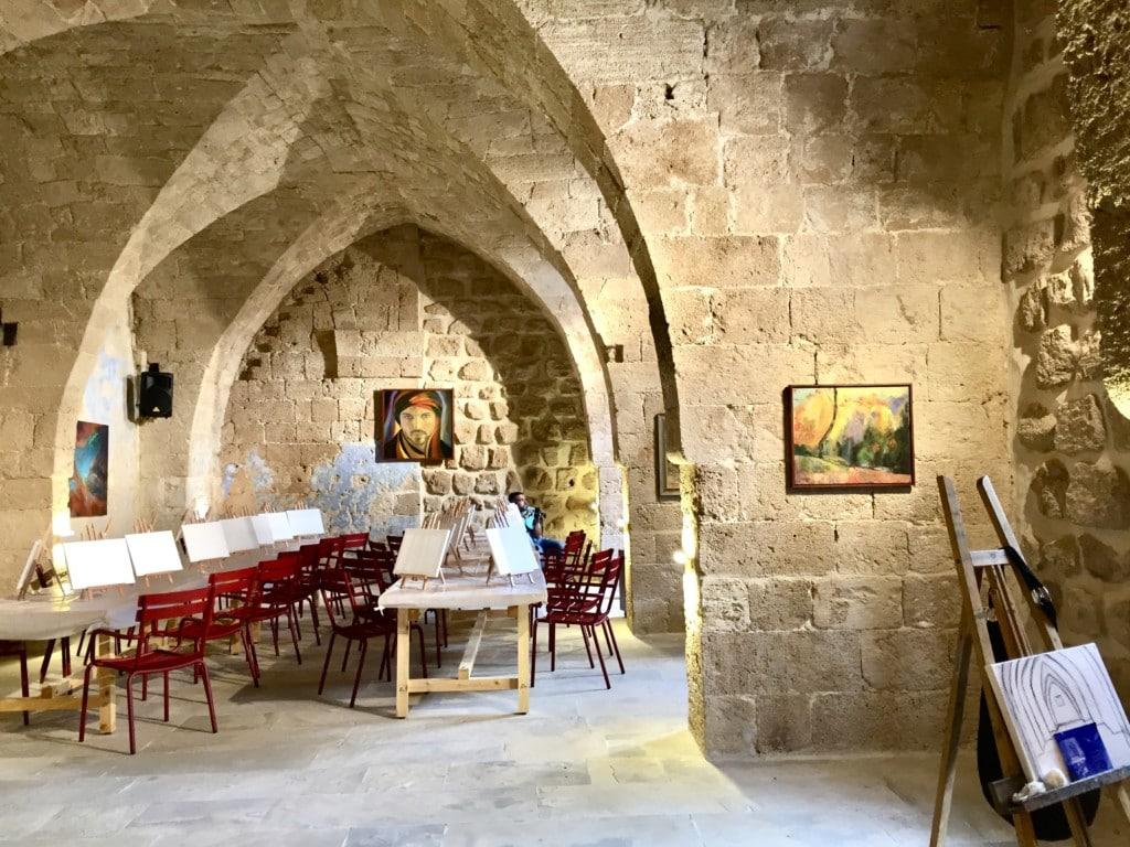 paint and wine night in lebanon