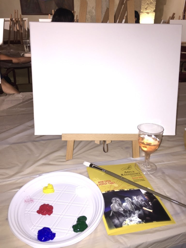 paint and wine night in lebanon