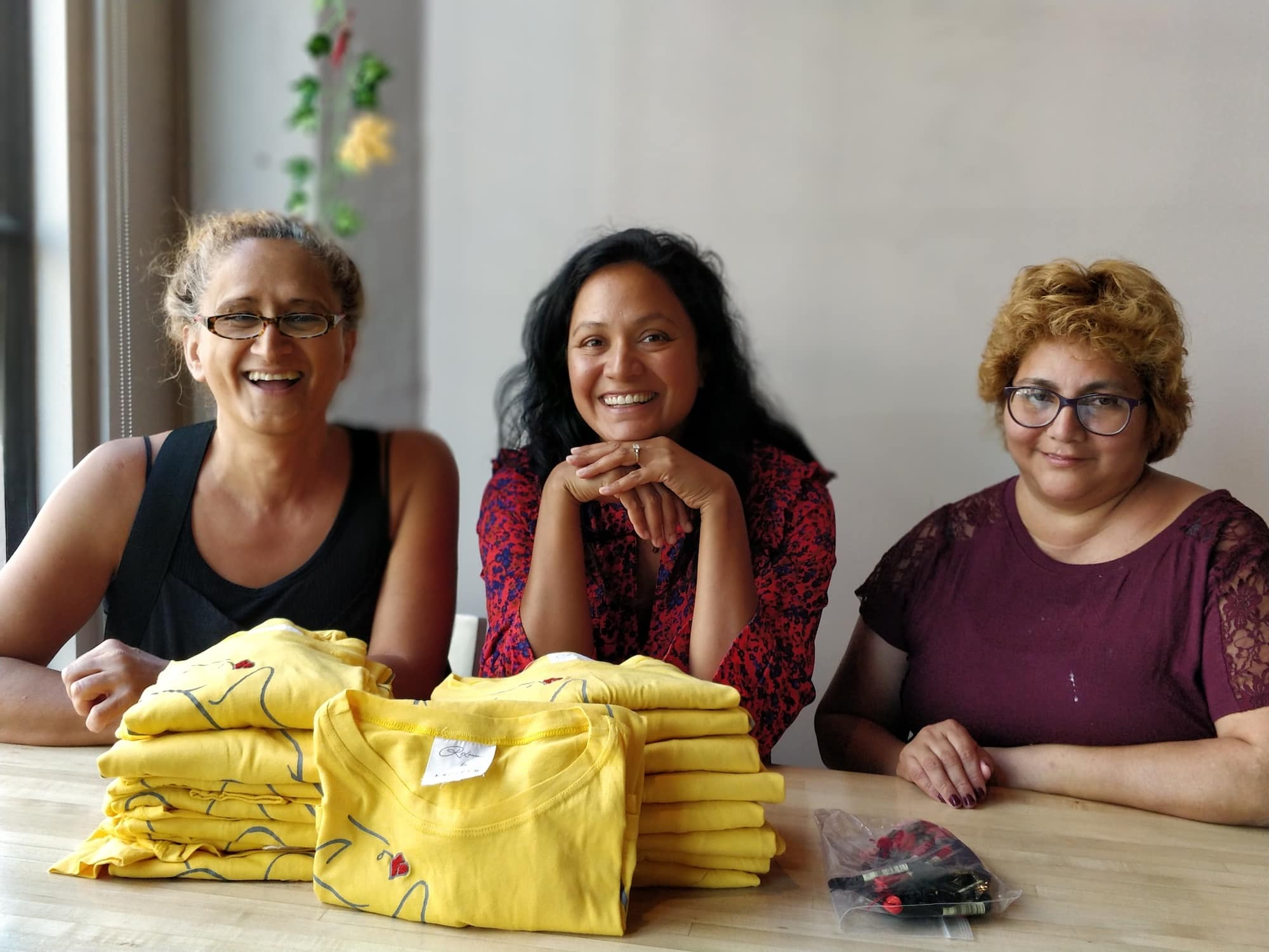 clothing by refugee women