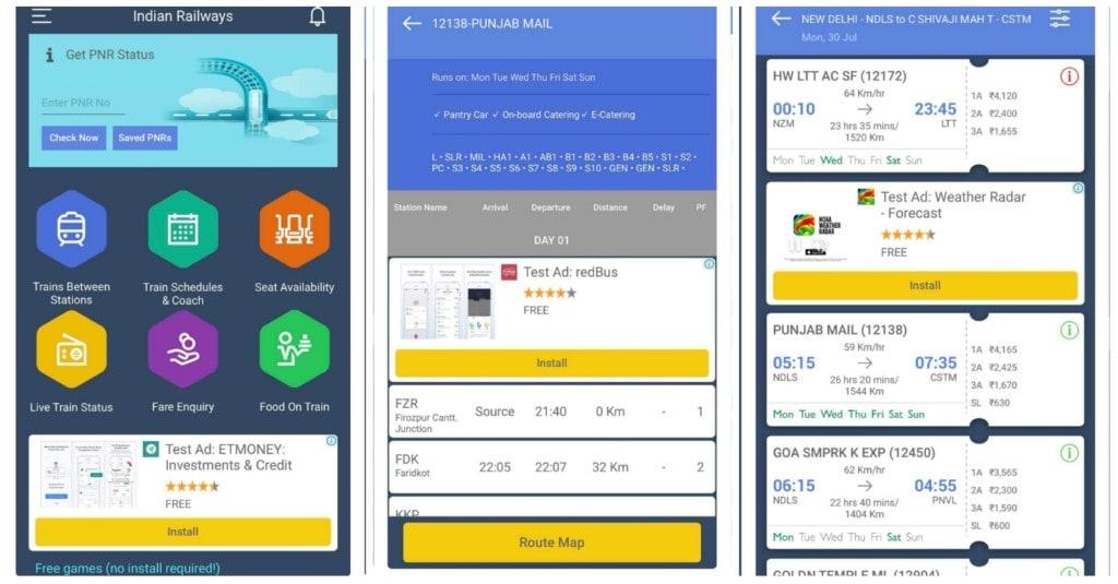 best train app india