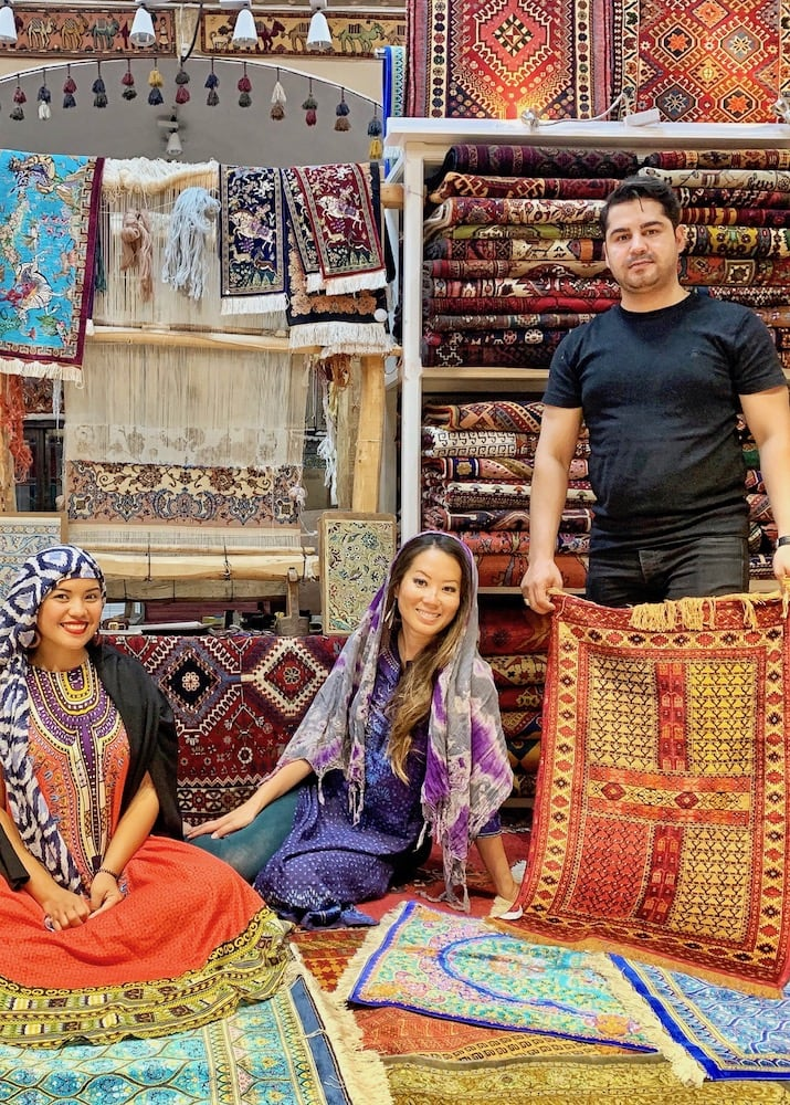 carpet shopping in yazd