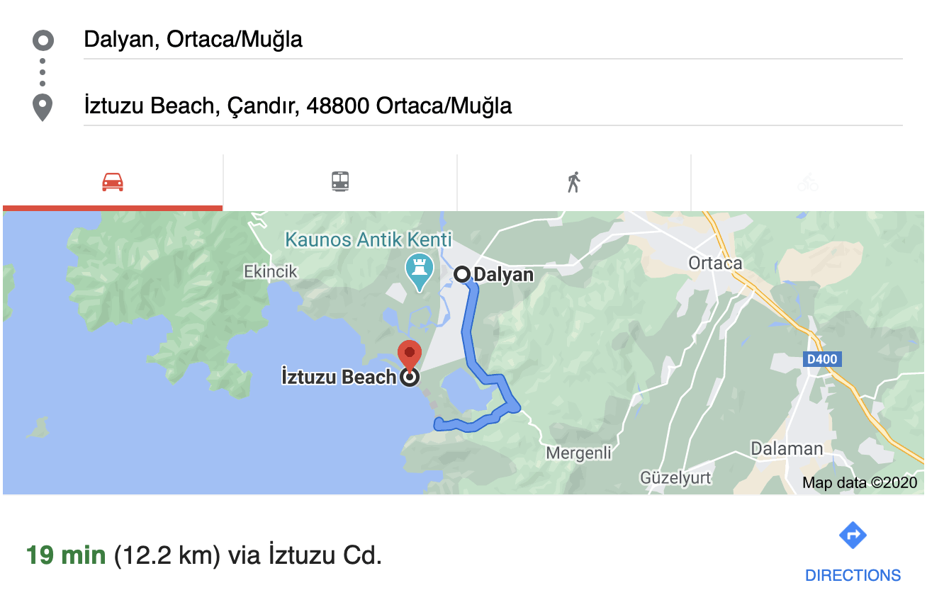 dalyan turkey to iztuzu beach